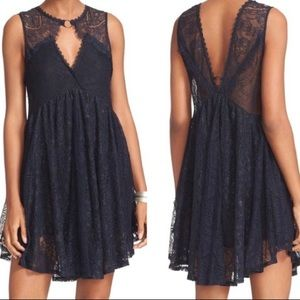 Free People Don't You Dare Lace Shift Dress